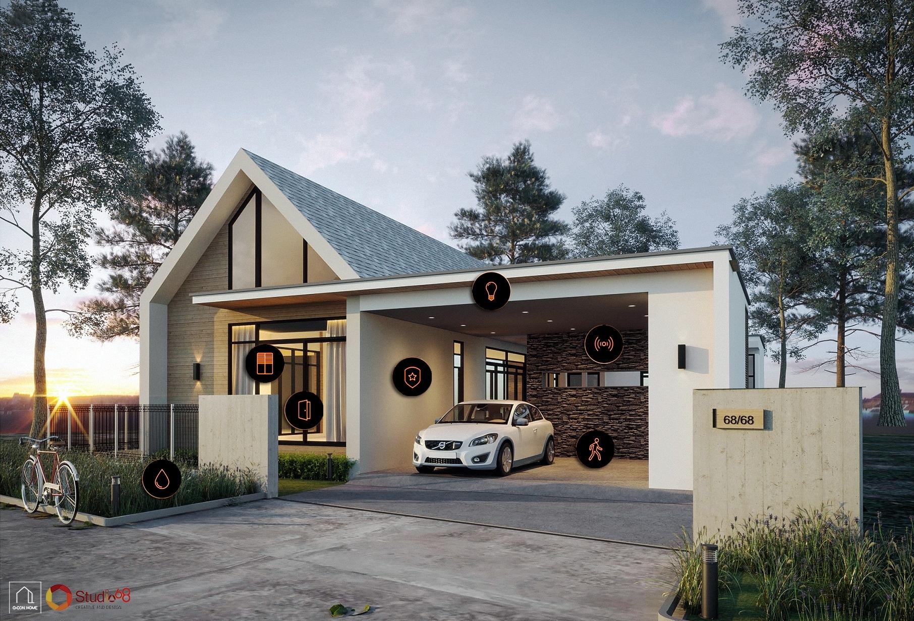 แบบบ้านสไตล์นอร์ดิก, บ้านสไตล์นอร์ดิก, สร้างบ้านแบบพูลวิลล่า, แบบบ้านพูลวิลล่า, แบบบ้าน Pool Villa, คิวคอนโฮม, รับก่อสร้างบ้านสไตล์นอร์ดิก รับเหมาก่อสร้างหัวหิน บริษัทสร้างบ้านหัวหิน, samrt home, ระบบสมาร์ทโฮม