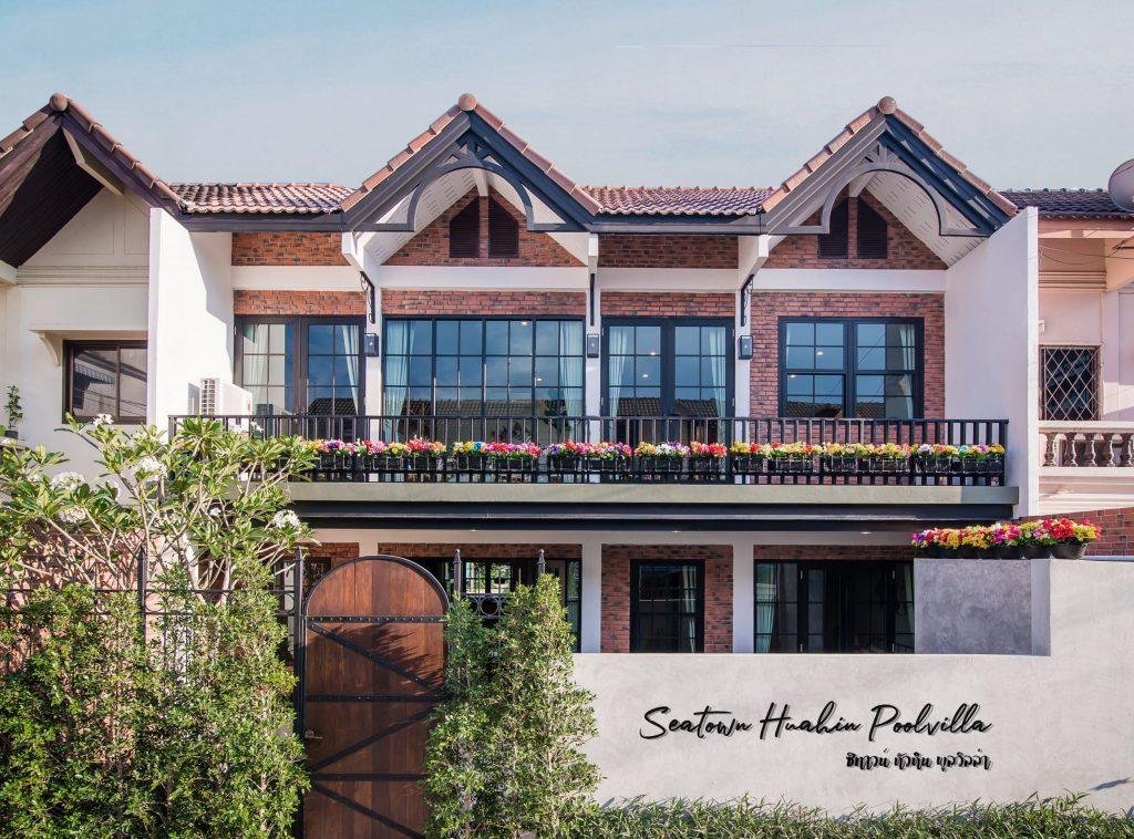 รับออกแบบโรงแรม, รับสร้างโรงแรม, บริษัทออกแบบโรงแรม, Sea Town Villa HuaHin