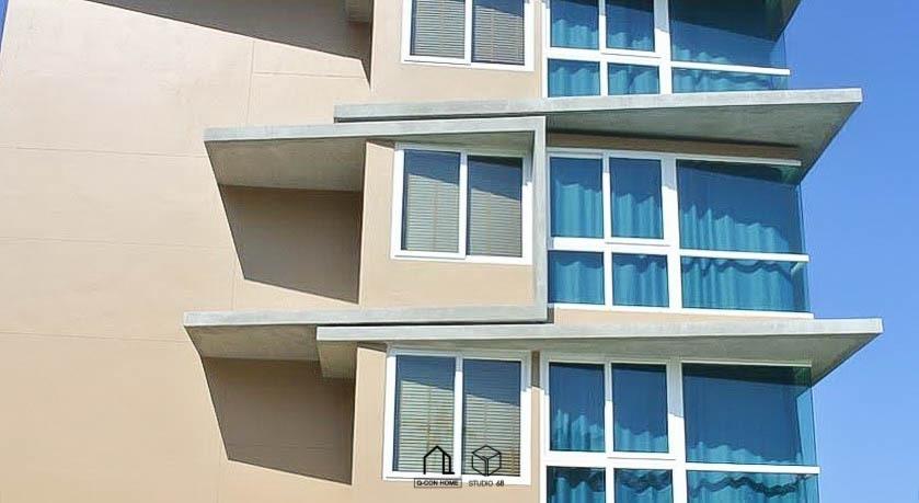 ออกแบบโรงแรมสไตล์ Modern, ออกแบบโรงแรม, รับสร้างโรงแรม, โรงแรม 4 ชั้น