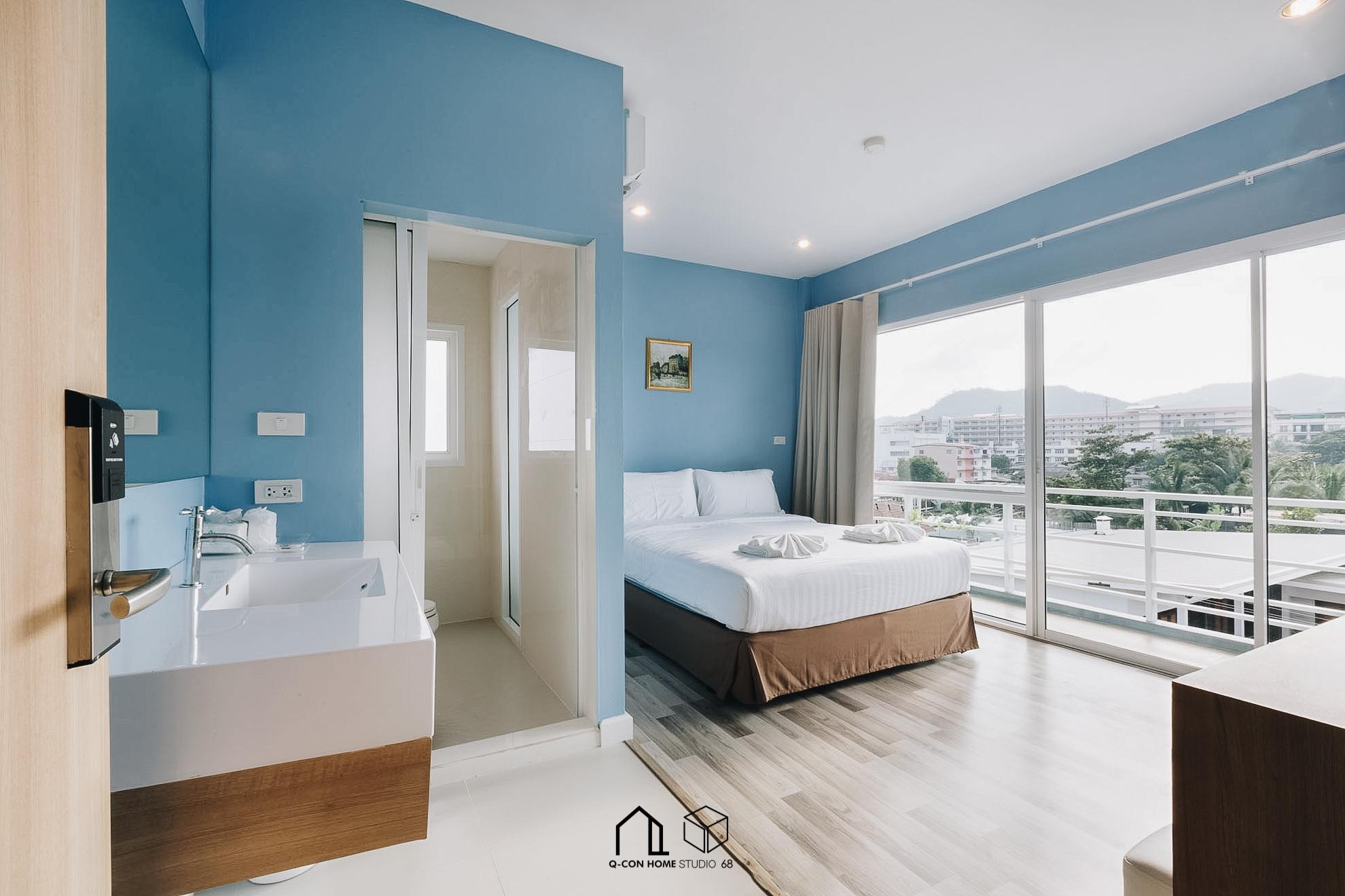 ออกแบบโรงแรมสไตล์ Modern, ออกแบบโรงแรม, รับสร้างโรงแรม, โรงแรม 4 ชั้น, ห้องพัก Deluxe