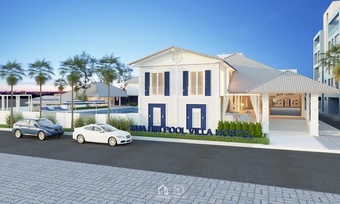รับออกแบบโรงแรม, รับสร้างโรงแรม, บริษัทออกแบบโรงแรม, ออกแบบ Hostel, รับออกแบบ Hostel